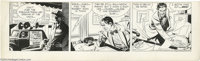 Alex Raymond - Rip Kirby Daily Comic Strip Original Art, dated 8-19-52 (King Features Syndicate, 1952). Is Pagan Lee ali...