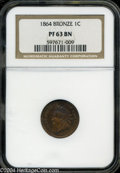Proof Indian Cents: , 1864 1C Bronze No L PR63 Brown NGC.ONLY 150 MINTED PER 2005 RED BOOK....
