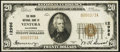 National Bank Notes:California, Ventura, CA - $20 1929 Ty. 1 The Union National Bank Ch. # 12996 Very Fine.. ...