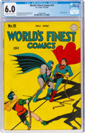 Golden Age (1938-1955):Superhero, World's Finest Comics #19 (DC, 1945) CGC FN 6.0 Off-white to white pages....