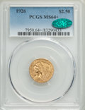 Indian Quarter Eagles: , 1926 $2 1/2 MS64+ PCGS. CAC. PCGS Population: (3008/870 and 193/48+). NGC Census: (3508/635 and 93/10+). MS64. Mintage 446,...