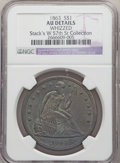 1863 $1 -- Whizzed -- NGC Details. AU. EX: Stack's W 57th St Collection. NGC Census: (3/60). PCGS Population: (10/90). C...
