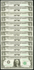 Complete District Set Fr. 1900-A-L $1 1963 Federal Reserve Notes. Choice Crisp Uncirculated or Better. ... (Total: 12 no...
