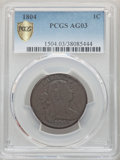 1804 1C AG3 PCGS. PCGS Population: (69/191 and 0/0+). NGC Census: (0/0 and 0/0+). CDN: $1,200 Whsle. Bid for problem-fre...