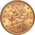 Liberty Double Eagles, 1897-S $20 MS65 NGC. CAC....