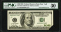 Printed Fold Error Fr. 2175-B $100 1996 Federal Reserve Note. PMG Very Fine 30