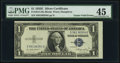 Gutter Fold Errors Fr. 1614 $1 1935E Silver Certificate. PMG Choice Extremely Fine 45