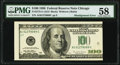 Misalignment Error Fr. 2175-G $100 1996 Federal Reserve Note. PMG Choice About Unc 58