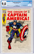 Silver Age (1956-1969):Superhero, Captain America #109 (Marvel, 1969) CGC VF/NM 9.0 White pages....
