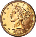 1896-S $5 MS64 Prooflike PCGS. CAC....(PCGS# 78393)
