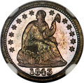 1843 H10C PR67★ NGC. Triple Punched Date, VP-002, Flynn-RPD-003. ...(PCGS# 4419)