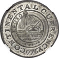 Colonials, 1776 $1 Continental Dollar, CURRENCY, Pewter, EG FECIT MS63 NGC. Crosby Pl. VIII, Newman 3-D, Breen-1095, W-8460, R.4. ...