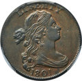 Large Cents, 1801 1C 3 Errors, S-219, B-11, R.2, AU53 PCGS. CAC....