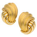 Estate Jewelry:Earrings, Gold Earrings, Henry Dunay. ...