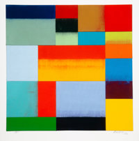 Charles Arthur Arnoldi (b. 1946) Untitled, 2006 Lithograph in colors on paper 37 x 36 inches (94