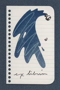 Claes Oldenburg (b. 1929) Untitled (Ex Libris for Printed Matter), 1991 Lithograph in colors on Moha