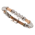 Estate Jewelry:Bracelets, Diamond, Gold Bracelet The bracelet features f...