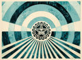Prints & Multiples, Shepard Fairey (b. 1970). Tunnel Vision Version 2 (Alternate Gold and Alternate Blue) (two works), 2018. Screenprints in... (Total: 2 Items)
