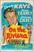 "Movie Posters:Musical, On the Riviera (20th Century Fox, 1951). Folded, Very Fine-. One Sheet (27"" X 41""). Musical.. ..."