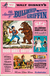 "The Adventures of Bullwhip Griffin & Other Lot (Buena Vista, 1967). Folded, Very Fine. One Sheets (3) (27""..."