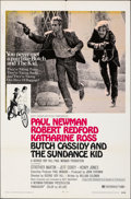 """Movie Posters:Western, Butch Cassidy and the Sundance Kid & Other Lot (20th Century Fox, 1969). Folded, Overall: Very Good-. One Sheets (2) (27"""" X ... (Total: 2 Items)"""