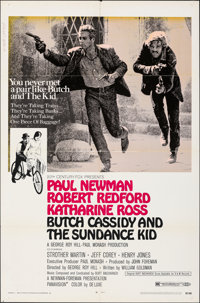 Butch Cassidy and the Sundance Kid & Other Lot (20th Century Fox, 1969). Folded, Overall: Very Good-. One Sheets...
