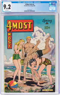 4Most V5#2 (Novelty Press, 1946) CGC NM- 9.2 White pages