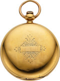 Timepieces:Pocket (pre 1900) , Geo. Howe & Co., Lynn Mass, Special 18k Gold Cased Model 57. ...