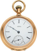 Timepieces:Pocket (pre 1900) , Waltham Heavy 18k Gold Cased Model 72. ...