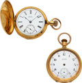 Timepieces:Pocket (pre 1900) , Two Waltham 18k Gold Model 72, Amn. Grade Open Face, Park Road Hunter. ... (Total: 2 Items)