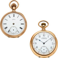 Waltham 14k Gold Model 72 & 14k Gold 19 Jewel Model 88 ... (Total: 2 Items)
