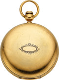 Timepieces:Pocket (pre 1900) , Waltham, Very Rare 12 Size Model 1861 P.S. Bartlett 18k Case. ...