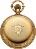 Timepieces:Pocket (pre 1900) , Waltham, 14k Gold Model 79 For G.W Welsh & Sons, 253 Green...
