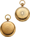 Timepieces:Pocket (pre 1900) , Two Waltham Model 57 14k Gold Hunters Cased Key Winds. ... (Total: 2 Items)