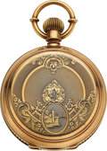 Timepieces:Pocket (pre 1900) , Waltham, Gold Presentation 18 Size For Fire Commissioner Bernard McCarthy, 1879. ...