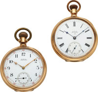 Two Waltham 14k Gold Model 72 Open Face Watches ... (Total: 2)