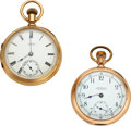Timepieces:Pocket (pre 1900) , Two Waltham 14k Gold Watches, Model 77, Model 88. ... (Total: 2 Items)