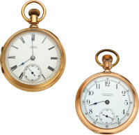 Two Waltham 14k Gold Watches, Model 77, Model 88 ... (Total: 2)