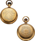 Timepieces:Pocket (pre 1900) , Two E. Howard & Co. 14k Gold Series V Hunters Cases For Re...
