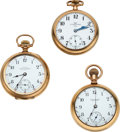 Timepieces:Pocket (post 1900), Three Rare Ball Watches, A.K. Jobe Inspector's, Railroad Watch Co., Commercial Standard. ... (Total: 3 Items)