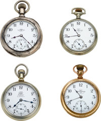 Four Ball Watches, B of RT, Wm. Kendricks & Sons, C.C Gere Inspector Watches, 21 Jewel 999 Official RR Standard...