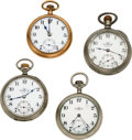 Timepieces:Pocket (pre 1900) , Four Ball Watches, Ezra Bowman Loaner, W.G. Smith Youngstown O., Two 17 Jewel Grade 999 Official Standards. ... (To...