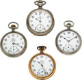 Timepieces:Pocket (pre 1900) , Four Ball Watches, B of LE, B of LF, Two 17 Jewel 999 Official Standards. ... (Total: 4 Items)