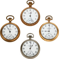 Four Ball Watches, Railroad Watch Co, Commercial Standard, 19 Jewel Grade 999, 17 Jewel Official RR Standard ... (Total:...