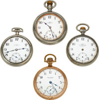 Four Ball Watches, A Very Rare Hamilton 18 Size 23 Jewel Grade 999 Official RR Standard, Railroad Watch Co., Two 17 Jewe...