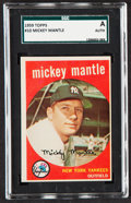Baseball Cards:Singles (1950-1959), 1959 Topps Mickey Mantle #10 SGC Authentic....
