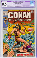 Bronze Age (1970-1979):Adventure, Conan the Barbarian #1 (Marvel, 1970) CGC Apparent VF+ 8.5 Slight (B-1) White pages....