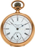Timepieces:Pocket (pre 1900) , E. Howard Watch Co. Boston, 14k Gold L Size 17 Jewel Split Plate For Repair. ...