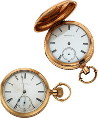 Two Lancaster Watch Co. 14k Gold Melrose Watches For Repair ... (Total: 2 Items)