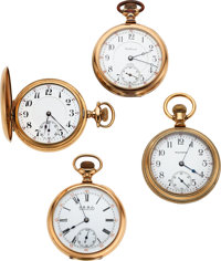 Four Waltham Watches, 88 Up-Jeweled, No Name 23 Jewel Model 99, Non-Magnetic Model 88, 23 Jewel Riverside Maximus ... (T...